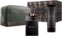 Bvlgari Man In Black Pouch Set 3-teilig