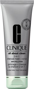 Clinique All About Clean Charcoal Mask + Scrub Anti Pollution