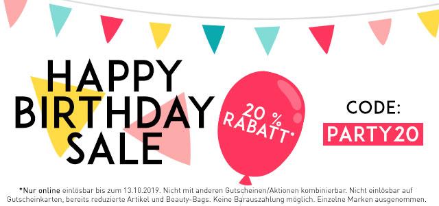 Birthday Sale: 20% Rabatt - jetzt entdecken