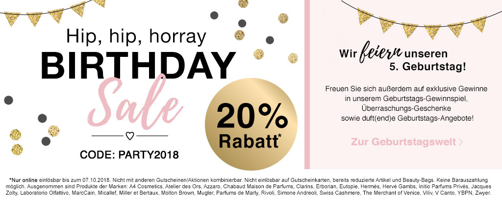 20% Geburtstags-Rabatt