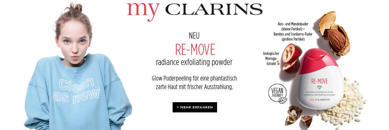 NEU: myCLARINS Re-Move Radiance Exfoliating Powder - jetzt entdecken