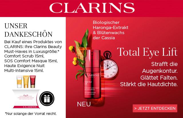 Neu: CLARINS Total Eye Lift - jetzt entdecken