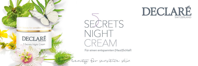 Declare 5 Secrets Night Cream - jetzt entdecken