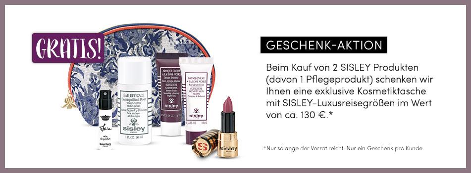 Brandshop Sisley: GRATIS exklusive Kosmetiktasche mit SISLEY-Luxusreisegrößen - Geschenk sichern