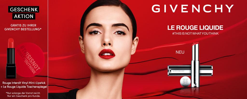 GRATIS Givenchy Mini-Lipstick + Taschenspiegel
