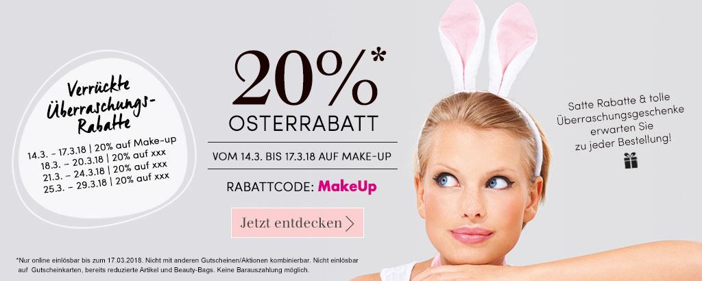 Verrückte Osterwochen - 20% Rabatt auf Make-up