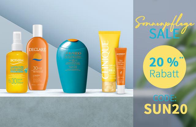 20 % Rabatt auf Sonnenpflege - jetzt shoppen & sparen