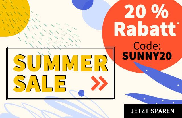 SUMMER SALE: 20 % Rabatt mit dem Code SUNNY20 - jetzt shoppen