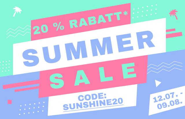 SUMMER SALE: 20% Rabatt mit dem Code SUNSHINE20 - jetzt entdecken