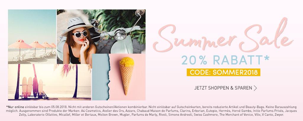 Summer Sale 20% Rabatt - jetzt entdecken
