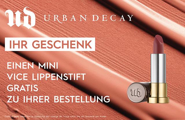 GRATIS Urban Decay Vice Lipstick - jetzt Geschenk sichern