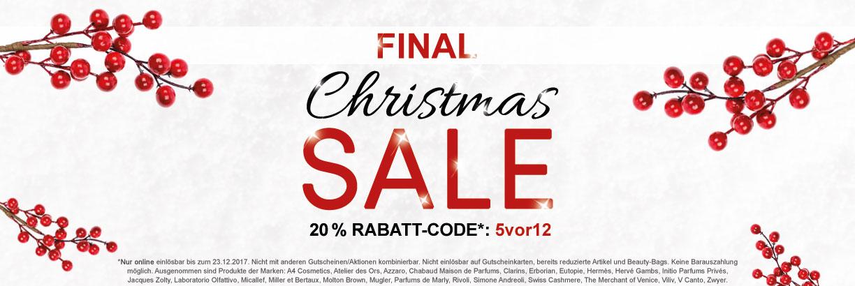Christmas-SALE - jetzt shoppen & sparen