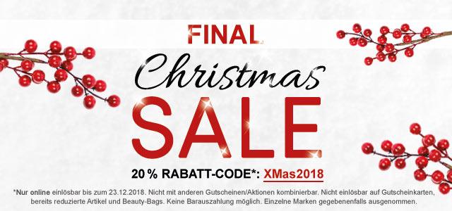 Final Christmas-SALE: 20 % Rabatt!