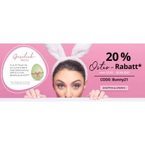 Ostern: 20 % Rabatt mit dem Code BUNNY21